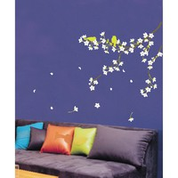 Amazon.com: Easy Instant Decoration Wall Sticker Decal - Spring Flowers and Birds: Home Improvement
