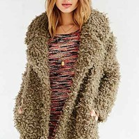 Ecote Cut Pile Overcoat - Urban Outfitters