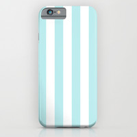 Turquoise Aqua Blue Stripe Vertical iPhone & iPod Case by BeautifulHomes