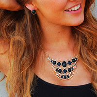 Live for the Night Necklace - Black
