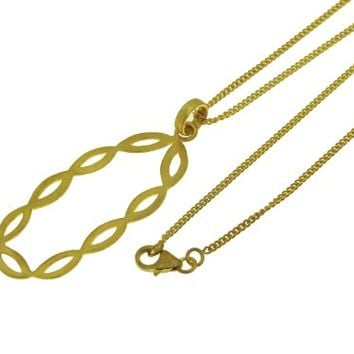 SKU Jewelry Gold Plated Sterling Silver Necklace