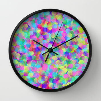 Bubbles Wall Clock by Ornaart | Society6