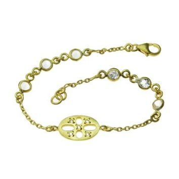 SKU Jewelry Gold Plated Sterling Silver Bracelet
