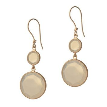 Rose Gold Earrings with Chalcedony