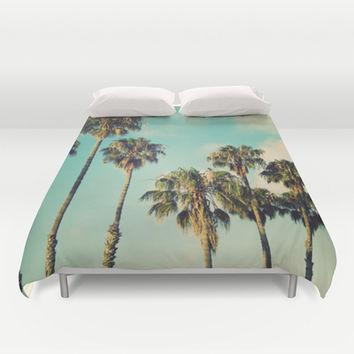 Palms Blue Duvet Cover by RichCaspian | Society6