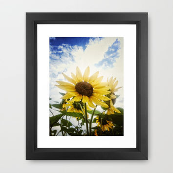 Summer Sunflower Sky Framed Art Print by RichCaspian | Society6