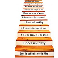 Wall Decal Vinyl Sticker Decals Art Home Decor Murals Quote Love is Patient, Love is Kind - 1 Corinthians 13 STAIR CASE Stairway Decals KV35