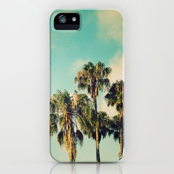 Palms Blue iPhone & iPod Case by RichCaspian | Society6