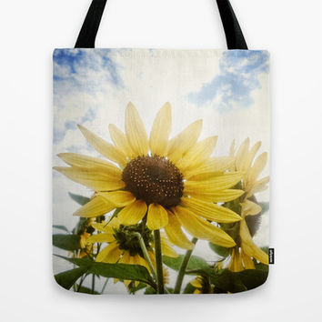 Summer Sunflower Sky Tote Bag by RichCaspian | Society6