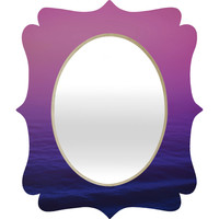 Leah Flores Sunset Waves Quatrefoil Mirror