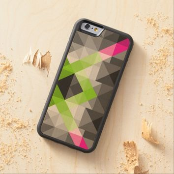 Abstract geometric vibrant colors Phone wood case