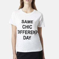 Topshop 'Same Chic Different Day' Graphic Tee | Nordstrom