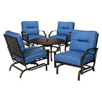 Bradford 5-Piece Metal Outdoor Firepit Chat Furniture Set