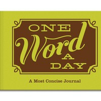 One Word a Day Journal - A Most Concise Journal - Whimsical & Unique Gift Ideas for the Coolest Gift Givers