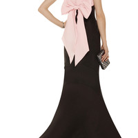 Oscar de la Renta Bow-embellished faille gown – 70% at THE OUTNET.COM