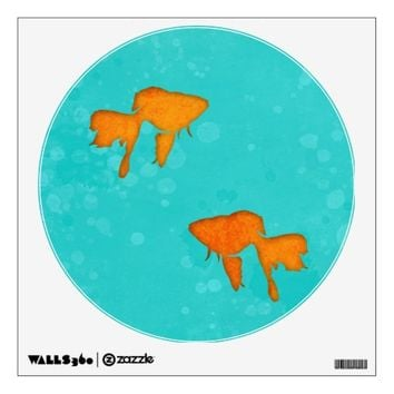 Goldfish silhouettes turquoise water Wall sticker