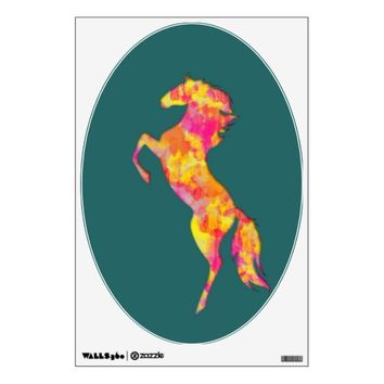 Fire horse silhouette abstract Wall decal
