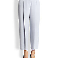Rebecca Taylor - James Cropped Wide-Leg Textured Pants - Saks Fifth Avenue Mobile