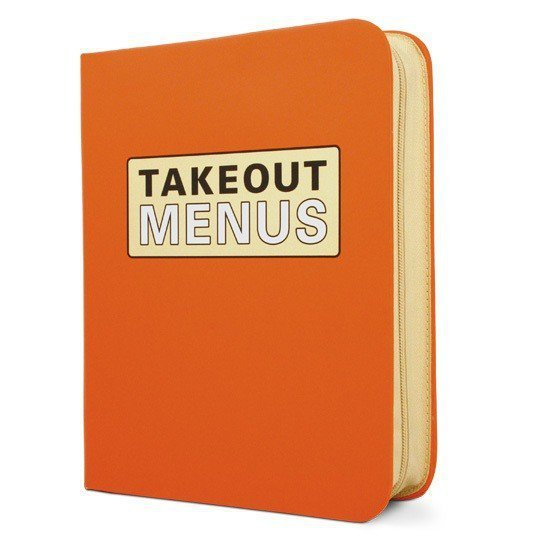 Takeout Menu Organizer - Whimsical & Unique Gift Ideas for the Coolest Gift Givers