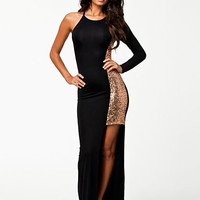 Sequin Pannel Maxi Dress