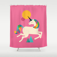 To be a unicorn Shower Curtain by Andy Westface