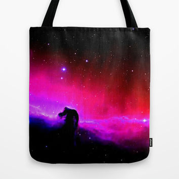 Horsehead Nebula Hot Pinks & Black Tote Bag by 2sweet4words Designs | Society6