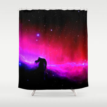 Horsehead Nebula Hot Pinks & Black Shower Curtain by 2sweet4words Designs | Society6