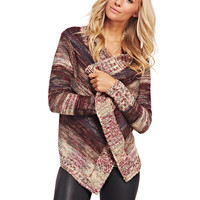 Chunky Knit Striped Open Cardi | Wet Seal