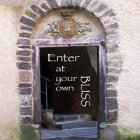 Enter Doorway PRINT welcome sign 8x10 Enter at your own Bliss wall art door way photography inspirational poster Enter signage housewares