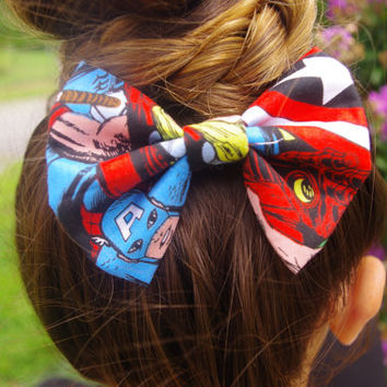 Marvel Avengers Clip-On Fabric Hairbow