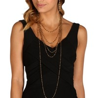 Gold Glass Beaded Necklace Set