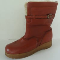 Vintage Dexter USA Leather & Fur Lined Womens Snow Boots - 9.5M