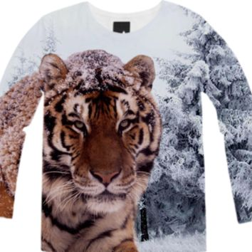 Siberian Tiger Long Sleeve Shirt created by ErikaKaisersot | Print All Over Me