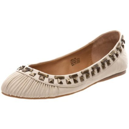 Kelsi Dagger Women`s Emera Flat,Cream Leather,8.5 M Us