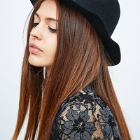 Double Stud Felt Panama Hat in Black - Urban Outfitters
