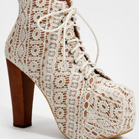 Jeffrey Campbell Lace Lita Platform Boots