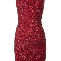 DRESS PH SEQUINS LYCRA