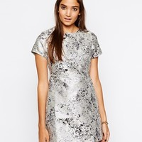 Motel Cheeky Structured Dress In Jacquard