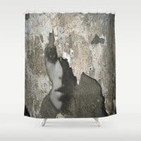 The Wall Shower Curtain by Müge Başak