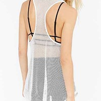 Silence + Noise Mesh Tunic Tank - Urban Outfitters
