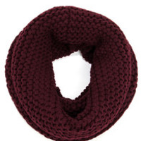 Windy City Burgundy Knit Infinity Scarf