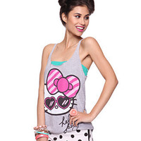 Striped Hello Kitty Bow Tank - Hello Kitty - Forever21