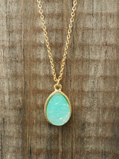 Sparkling Lake Druzy Necklace [2987] - $12.00 : Vintage Inspired Clothing & Affordable Summer Dresses, deloom | Modern. Vintage. Crafted.