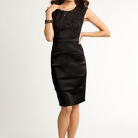 Sequin Lace and Satin Dress