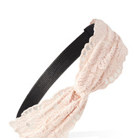 FOREVER 21 Floral Lace Knotted Headband