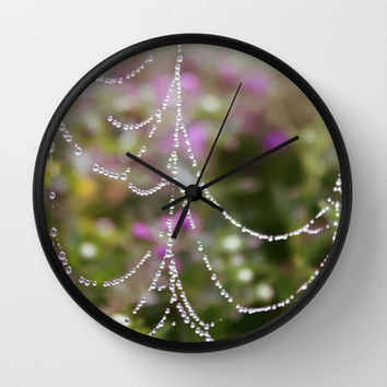 String of Pearls Wall Clock by KirbyLKoch | Society6