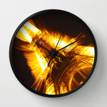 Eiffel on Fire Wall Clock by KirbyLKoch | Society6