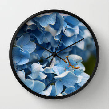 Praying Mantis Wall Clock by KirbyLKoch | Society6