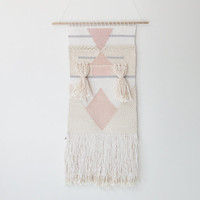 handwoven wall hanging tapestry weaving | no. 082014