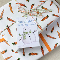 Christmas Carrot Wrapping Paper Set
